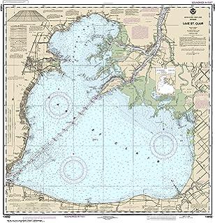 lake st clair map chart Amazon Com Noaa 14850 Lake St Clair Fishing Charts And Maps lake st clair map chart