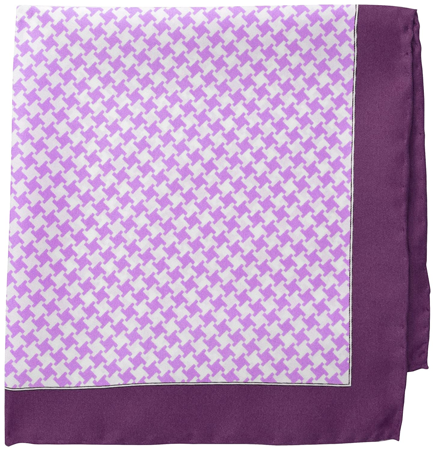 Countess Mara Mens Washington Houndstooth Pocket Square Purple One Size Randa Neckwear CM20300004