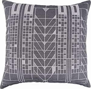 KAF Home Frank Lloyd Wright Woven Jacquard Pillow Cover 18 x 18-inch 100-Percent Cotton (Tree of Life)