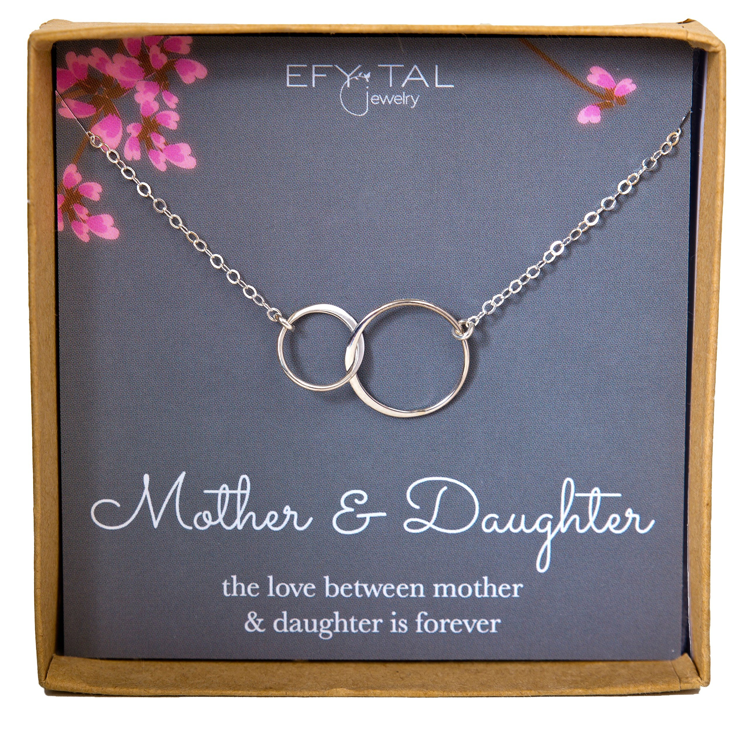 daughter valentine infinity necklace silver circles itm mother sterling usa valentines s gift