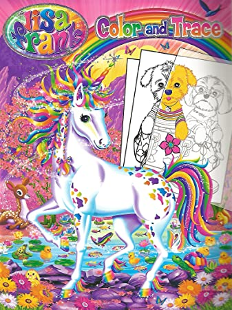 Amazoncom Lisa Frank Color and Trace Book with Stand up