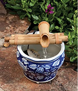 bamboo accents zen garden water fountain spout complete kit includes submersible pump for easy install