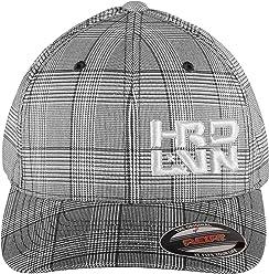 59808e1af15 Stretch Fit (Pinstripe Plaid) CurvedBill Cap Hard Livin (HRD-LVN)-