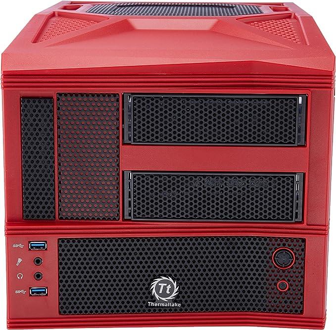 Thermaltake Armor A30i Speed Edition Mini-Tower Rojo - Caja de Ordenador (Mini-Tower, PC, Aluminio, SECC, Rojo, Micro ATX,Mini-ITX, 9 cm): Amazon.es: Informática