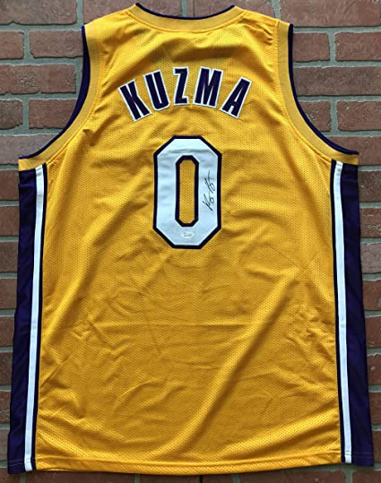 Image Unavailable. Image not available for. Color  Kyle Kuzma autographed  signed jersey NBA Los Angeles Lakers ... 22fbf3c09