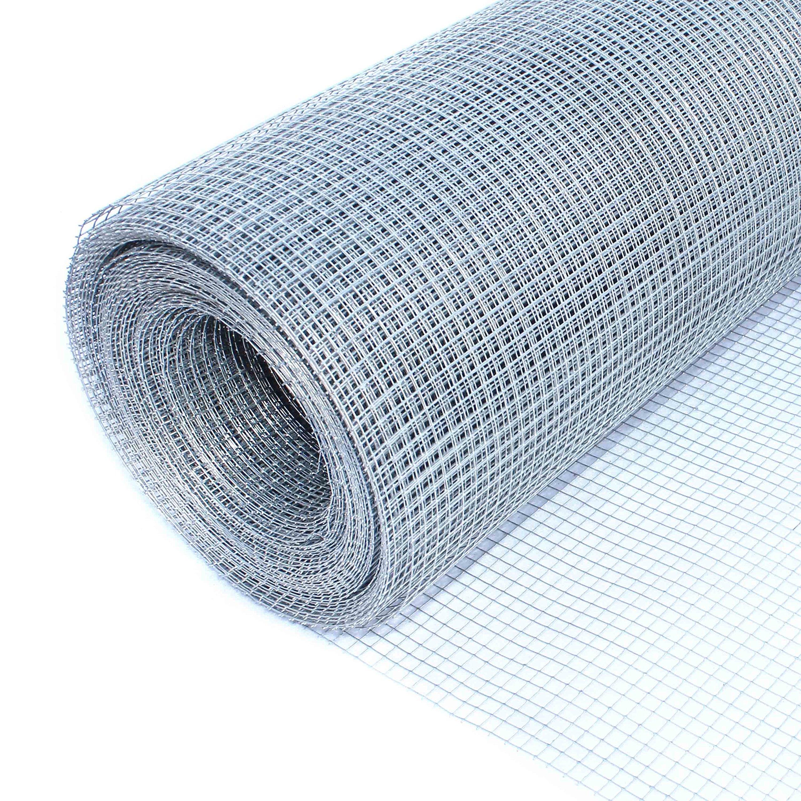 ALEKO Mesh Wire Roll Cloth 23 Gauge Steel 40 Feet Long 40 Inch Height 1/4 Inch Mesh