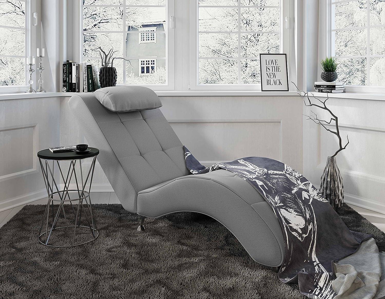 Myhomery Relaxliege Tanja Liege Zum Entspannen Relaxsessel Furs Wohnzimmer Moderne Recamiere Mit Stoff Chaiselongue Grau Amazon De Kuche Haushalt