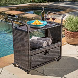 """Christopher Knight Home 295651""""Corona CKH Outdoor Barcarts, multibrown"""