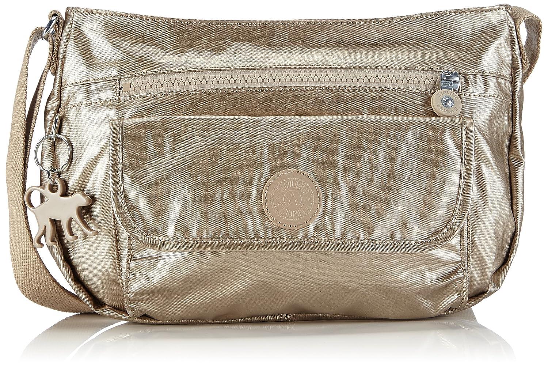 Kipling Women's Syro Across Body Shoulder Bag Small Champagne Metal