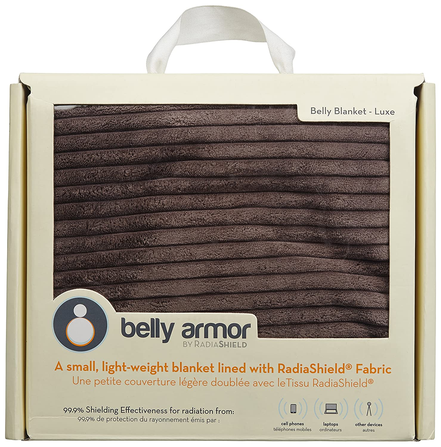 BELLY ARMOR Anti-Radiation Maternity Belly Blanket Luxe (Aqua, 100% Protective Micro-Fleece, 30 x 35 inches) | Radiation-shielding Baby Blanket | EMF Protection for Pregnancy, Fertility, Early Childhood RadiaShield Technologies BBL.Aq.04.10.00005