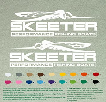 Amazoncom Pair  Skeeter Performance Decals White Vinyl - Vinyl stickers for boats
