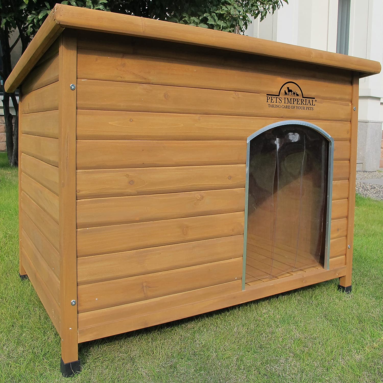 Pets Imperial® Haustiere Imperial® Extra Large Isolierter Norfolk Hölzerner Hundhütte mit Stützschienen und abnehmbarem Fußboden für einfache Reinigung
