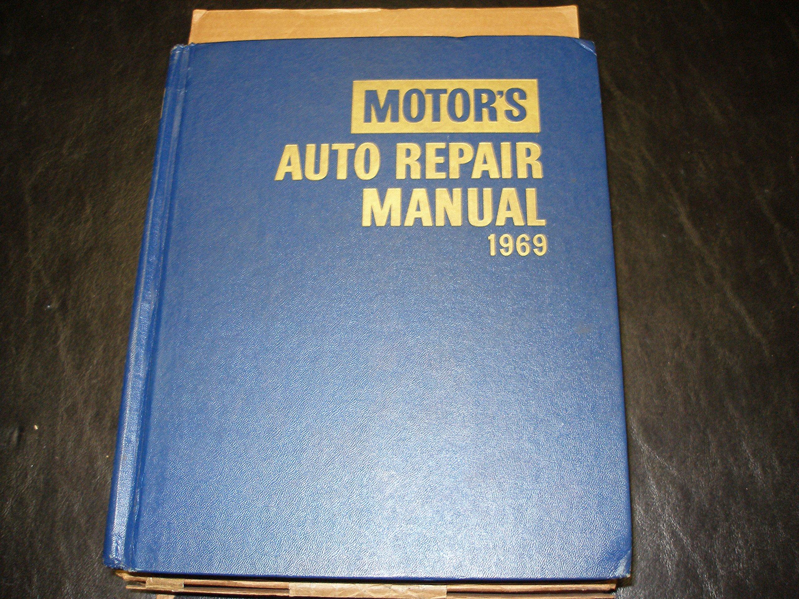 motor s auto repair manual 1969 motor manuals amazon com books rh amazon com auto manual book auto manual books haynes