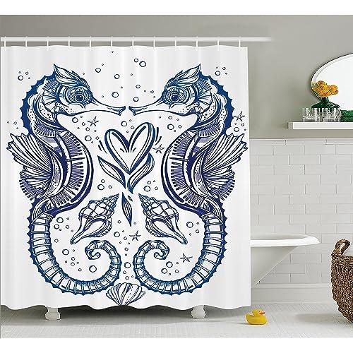 Seahorse Bathroom Decor Amazon Com