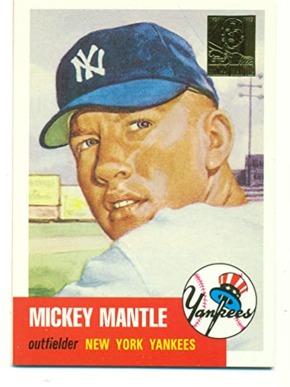 1996 Topps Mickey Mantle Mantle Reprints 1953 Topps 82 At Amazons