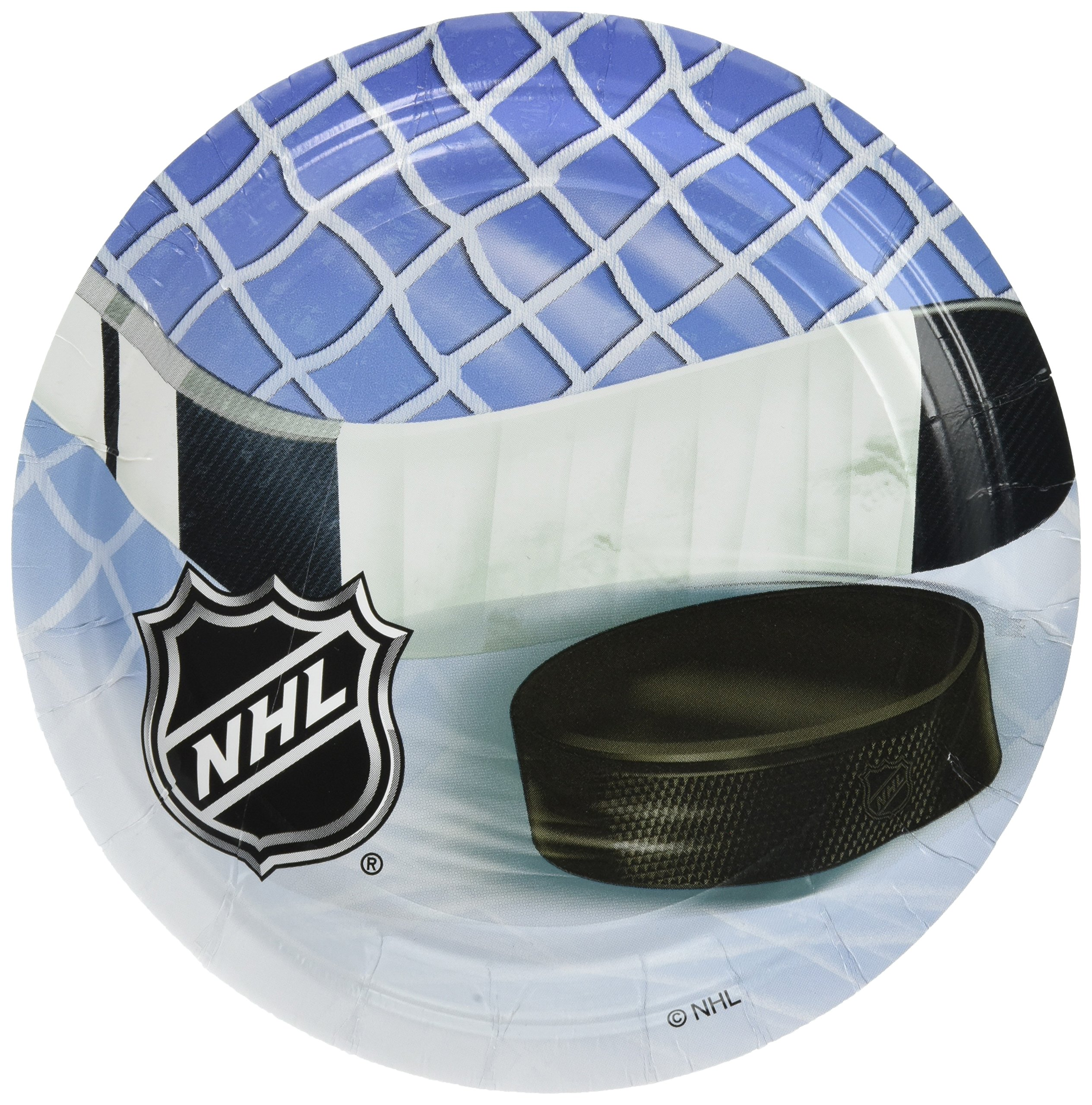 amscan NHL Ice Time! Collection 7'' Round, Party Plates, 48 Ct. by amscan