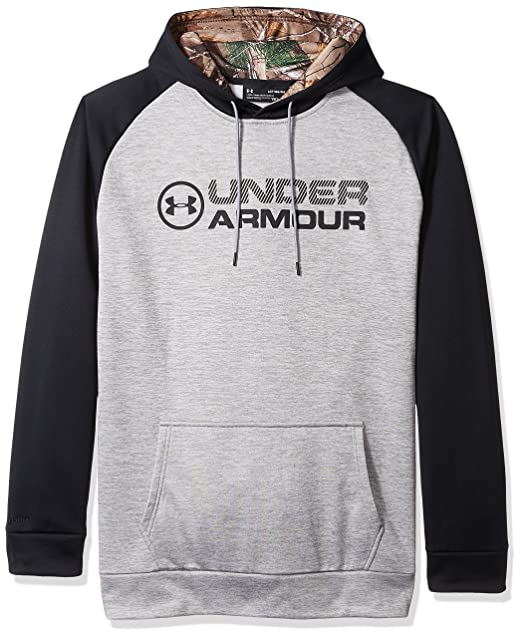 0f5b9ba2b Under Armour Men's Armour Storm Fleece Stacked hoodie-Tall, Steel /Black,  Large