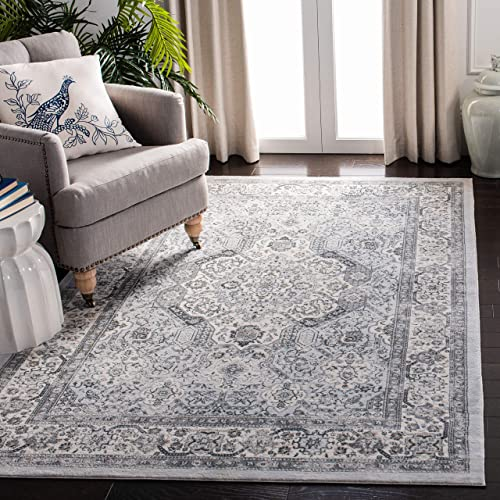 Safavieh Isabella Collection ISA916H Area Rug, 9 x 12 , Dark Grey Cream