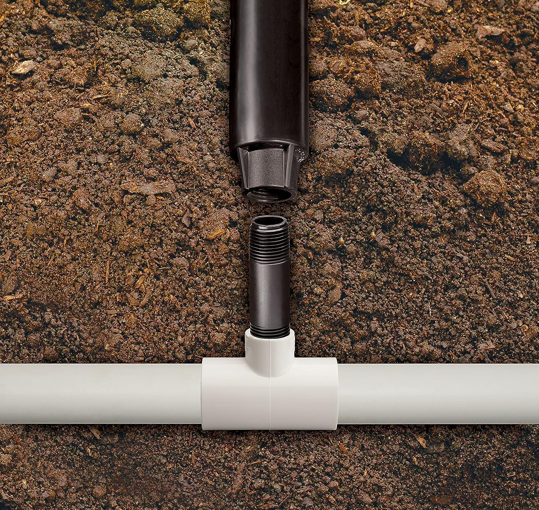 1//2 Male Pipe Thread x 1//2 Male Pipe Thread 12 Length Rain Bird RISER12 PVC Spray Head Riser