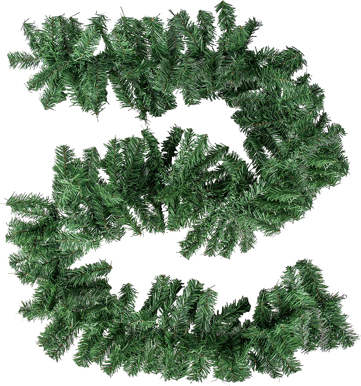 Juvale Christmas Garlands for Mantel Decorations, DIY Wreath, Holiday Decor (8.8 Ft, 3 Pack)