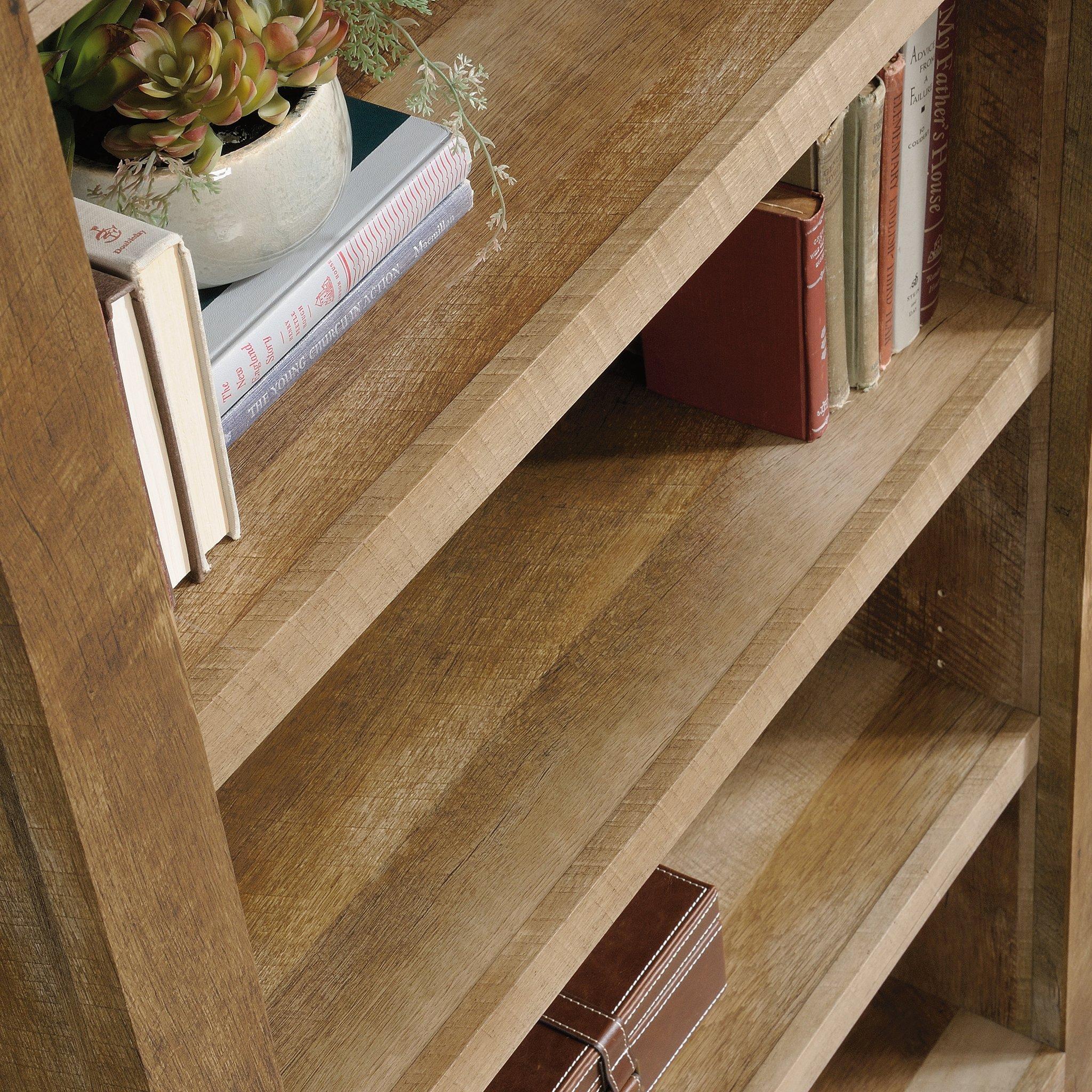 Sauder 418546 Dakota Pass 5-Shelf Bookcase, L: 33.78'' x W: 12.52'' x H: 71.1, Craftsman Oak finish by Sauder (Image #7)