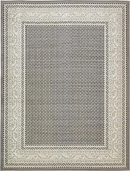 Unique Loom Tribeca Collection Gray 9 X 12 Area Rug