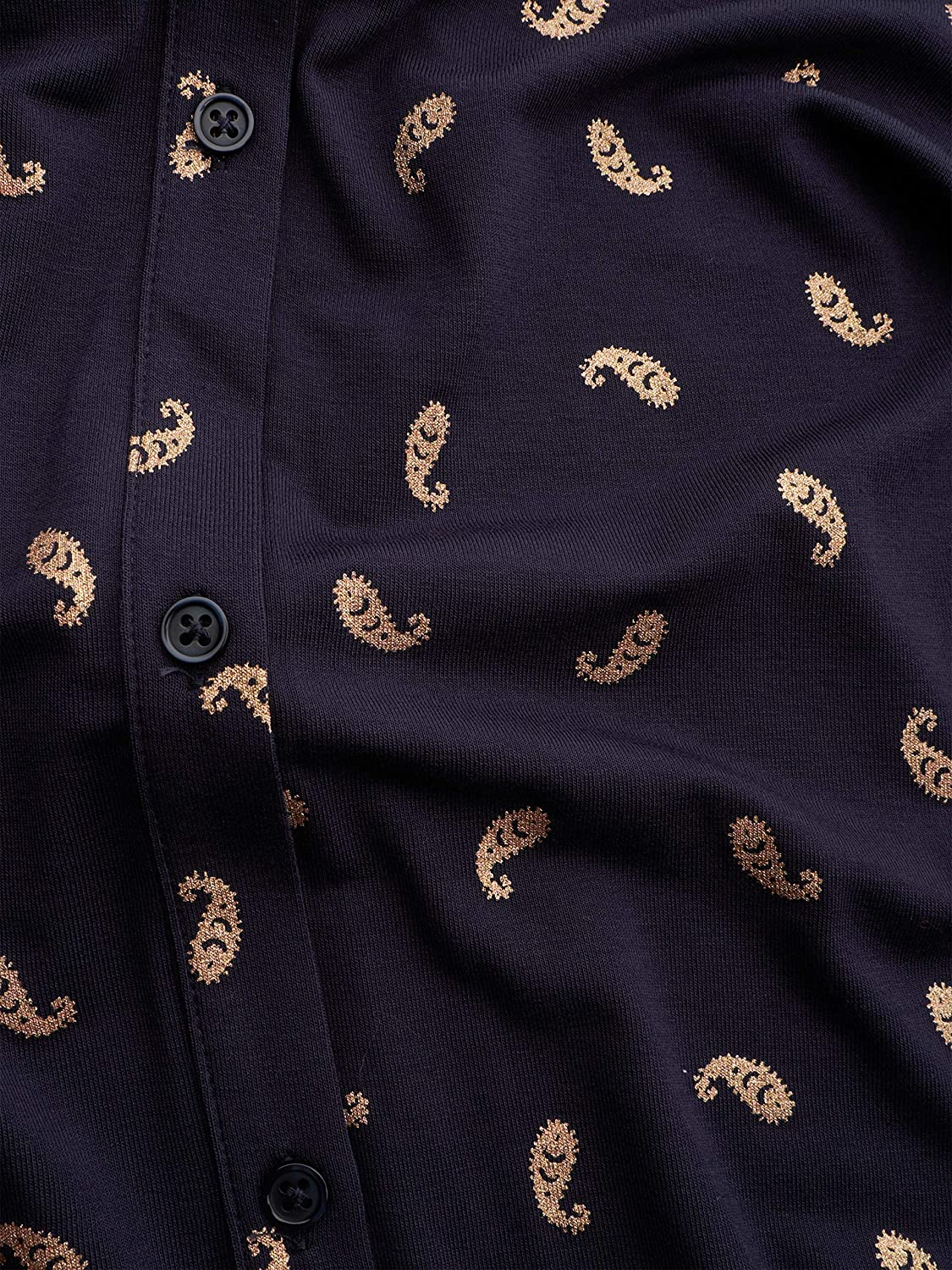 Sandwich Clothing Blusa Con Estampado Azul Marino Y Dorado Cielo Nocturno