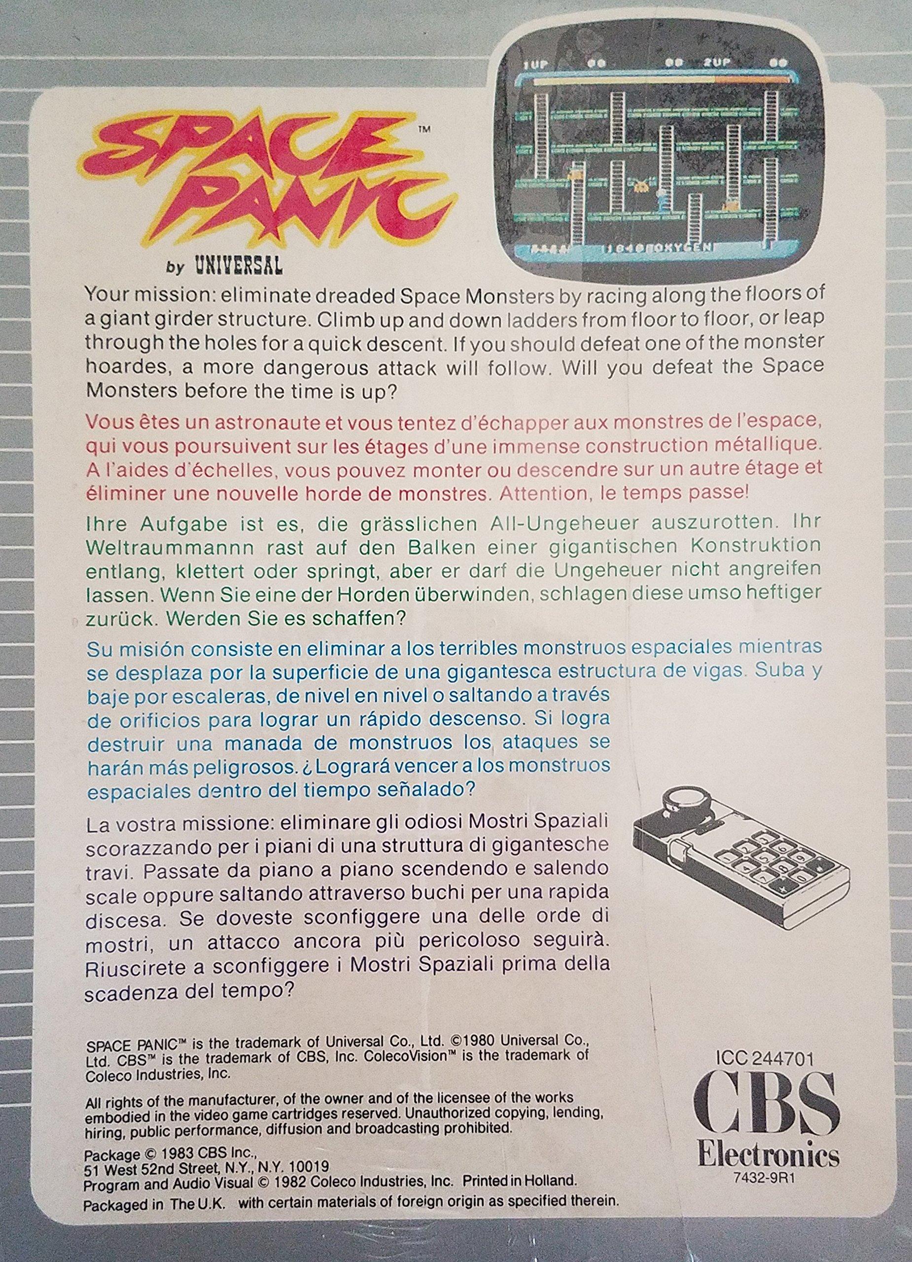 Space Panic - ColecoVision (CBS Electronics International Verison) by CBS Electronics (Image #2)