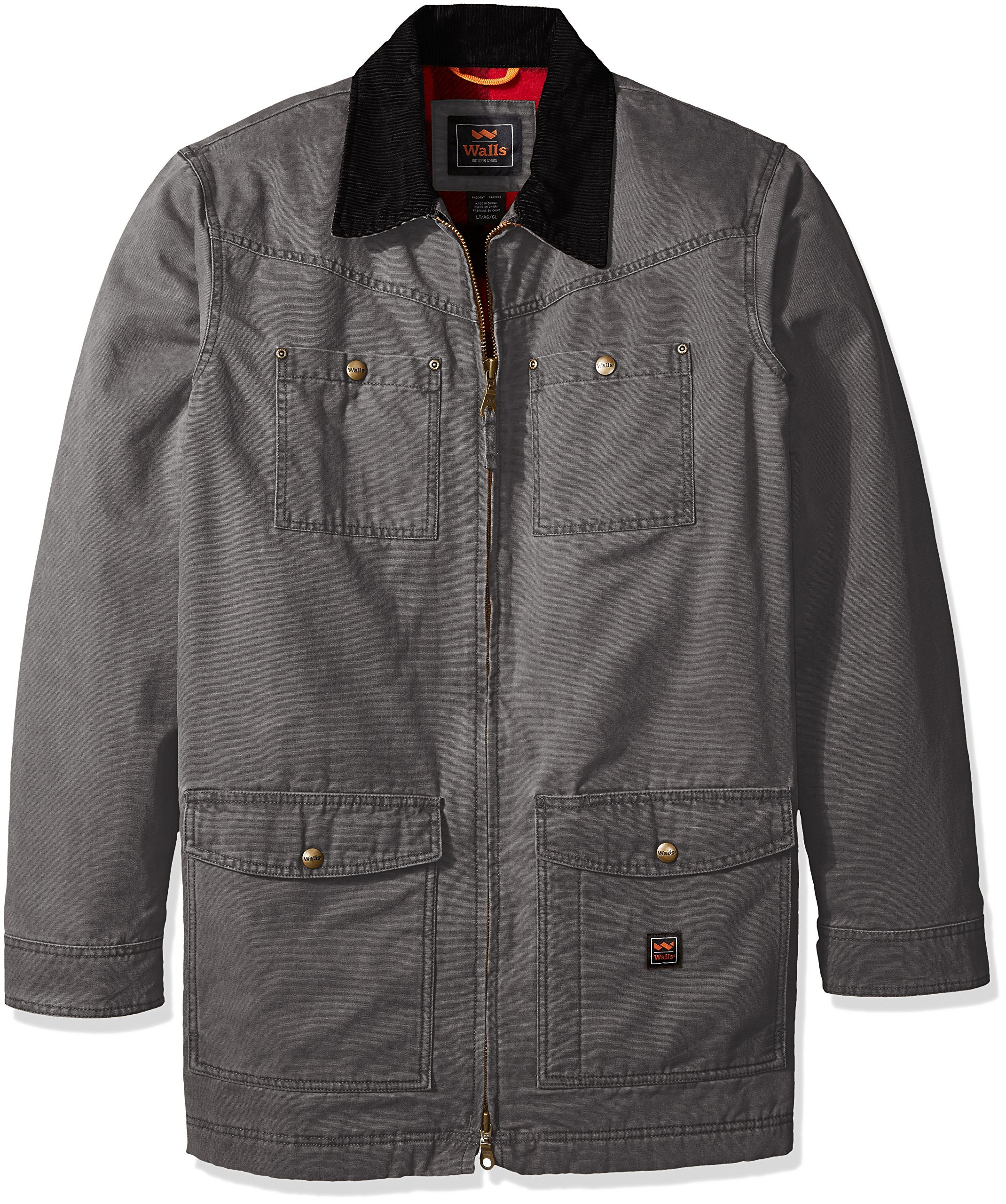 Walls Men's Big Redford Vintage Duck Barn Coat, Washed Graphite, 2X Tall