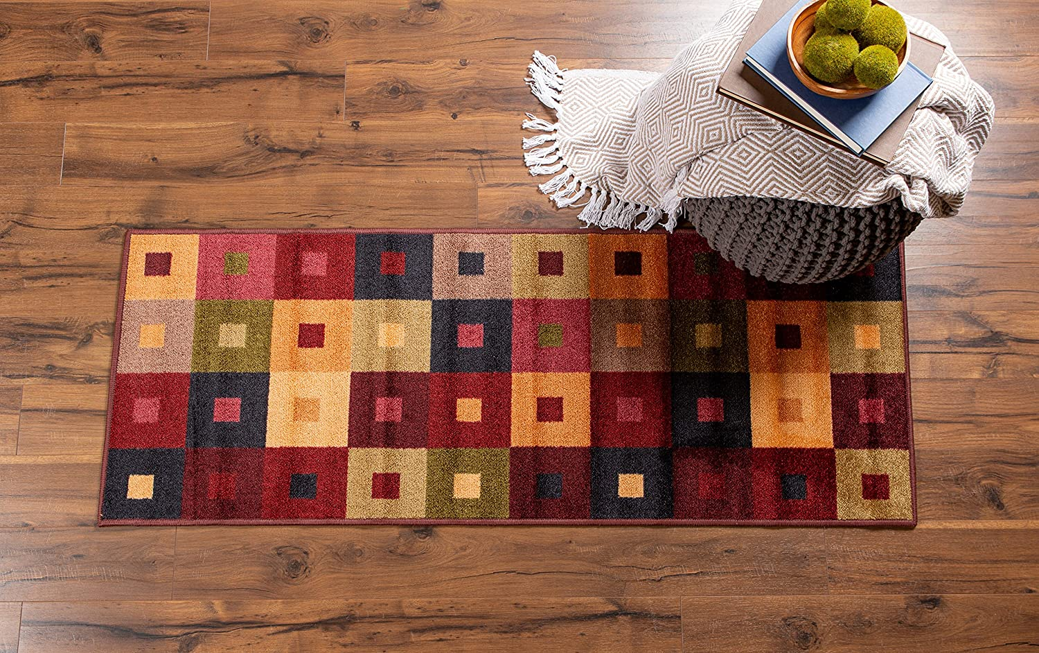 24x72 Office-Multi Stripe 24x72 J /& M Home Fashions 10351A Loft Wash Room Fashion Contemporary Runner Living Room Nursery Kitchen Laundry Perfect for Bedroom