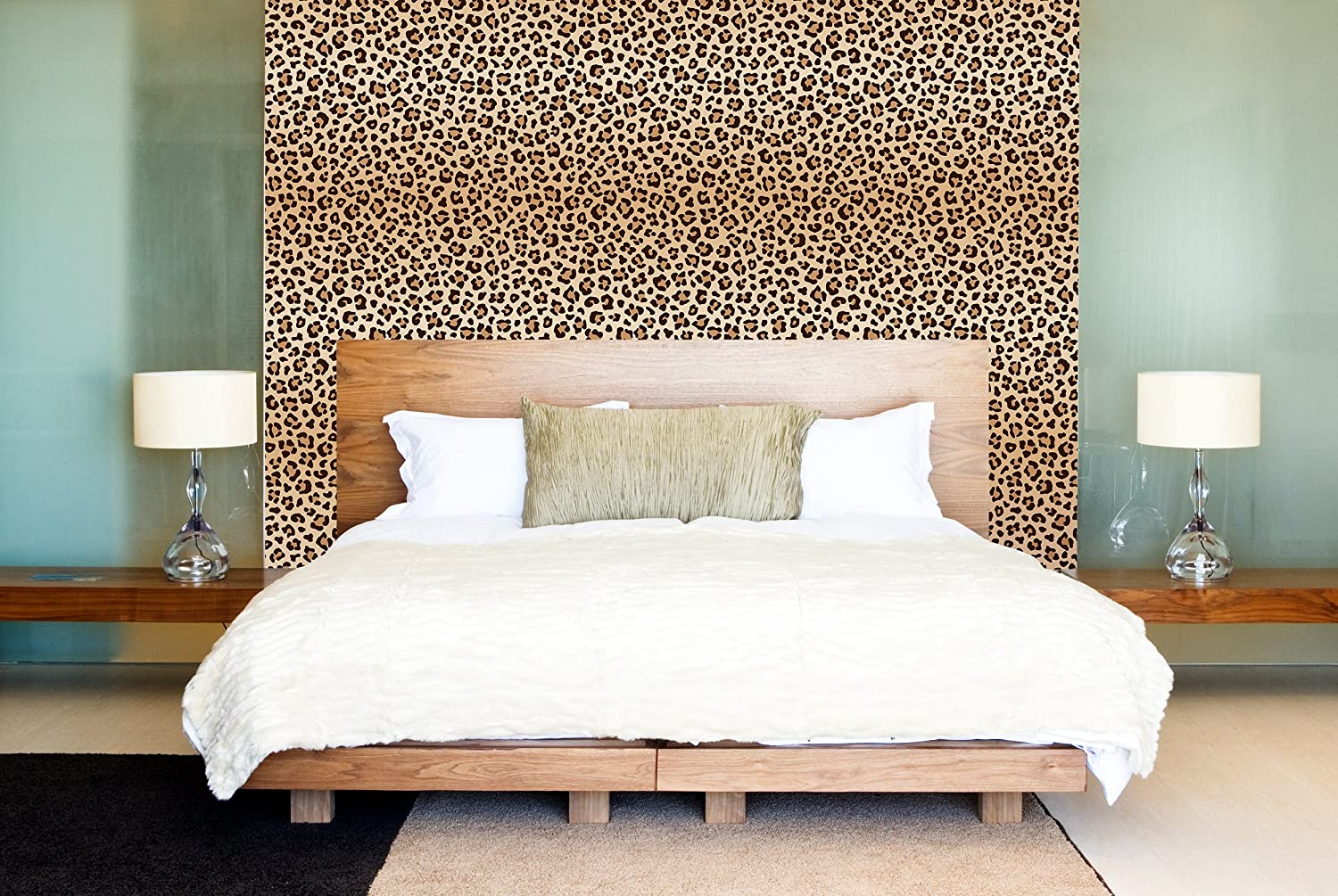 Amazon Com Leopard Spots Removable Wallpaper Animal Pattern Self Adhesive Wall Paper Vinyl For Walls Peel And Stick Application Cc151 Handmade