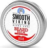 Beard Balm for Men - Best Leave-In Wax Beard Conditioner With Shea Butter and Argan Oil - Styles, Strengthens and Thickens Without a Brush or Trimmer! Perfect for Beard Growth - 2 OZ - Smooth Viking