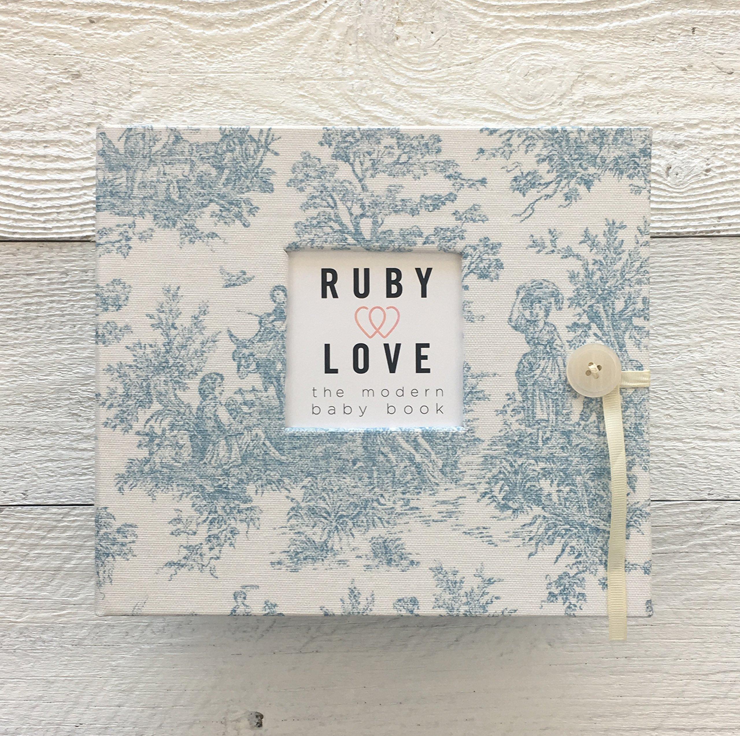 Vintage Jamestown Baby Memory Book (Blue)
