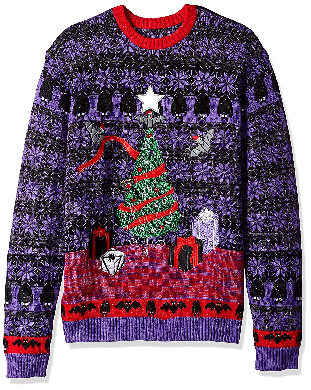 Blizzard Bay Men's Bats Themed Ugly Christmas Sweater