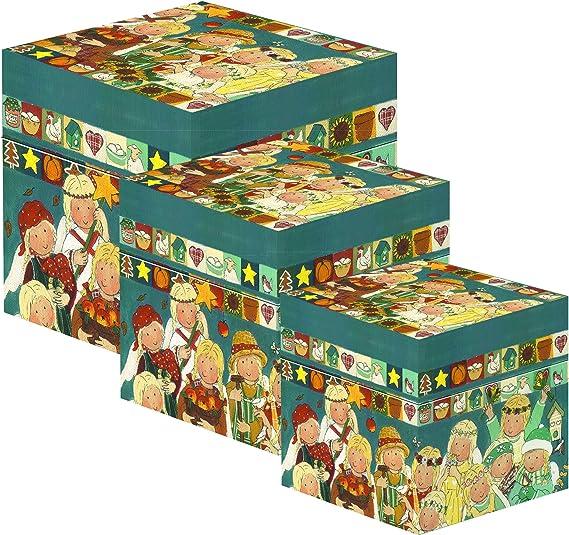 Gnomys Diaries Angeles De Los Meses Set de Cajas, Cartón, Multicolor, 13x13x13 cm, 3 Unidades: Amazon.es: Hogar