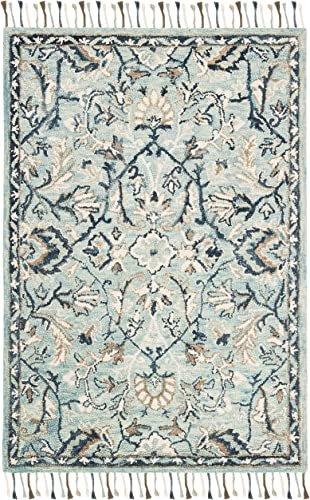 Safavieh BLM457M-24 Blossom Collection BLM457M Blue and Ivory Area Rug 2'3″ x 4' Runner,