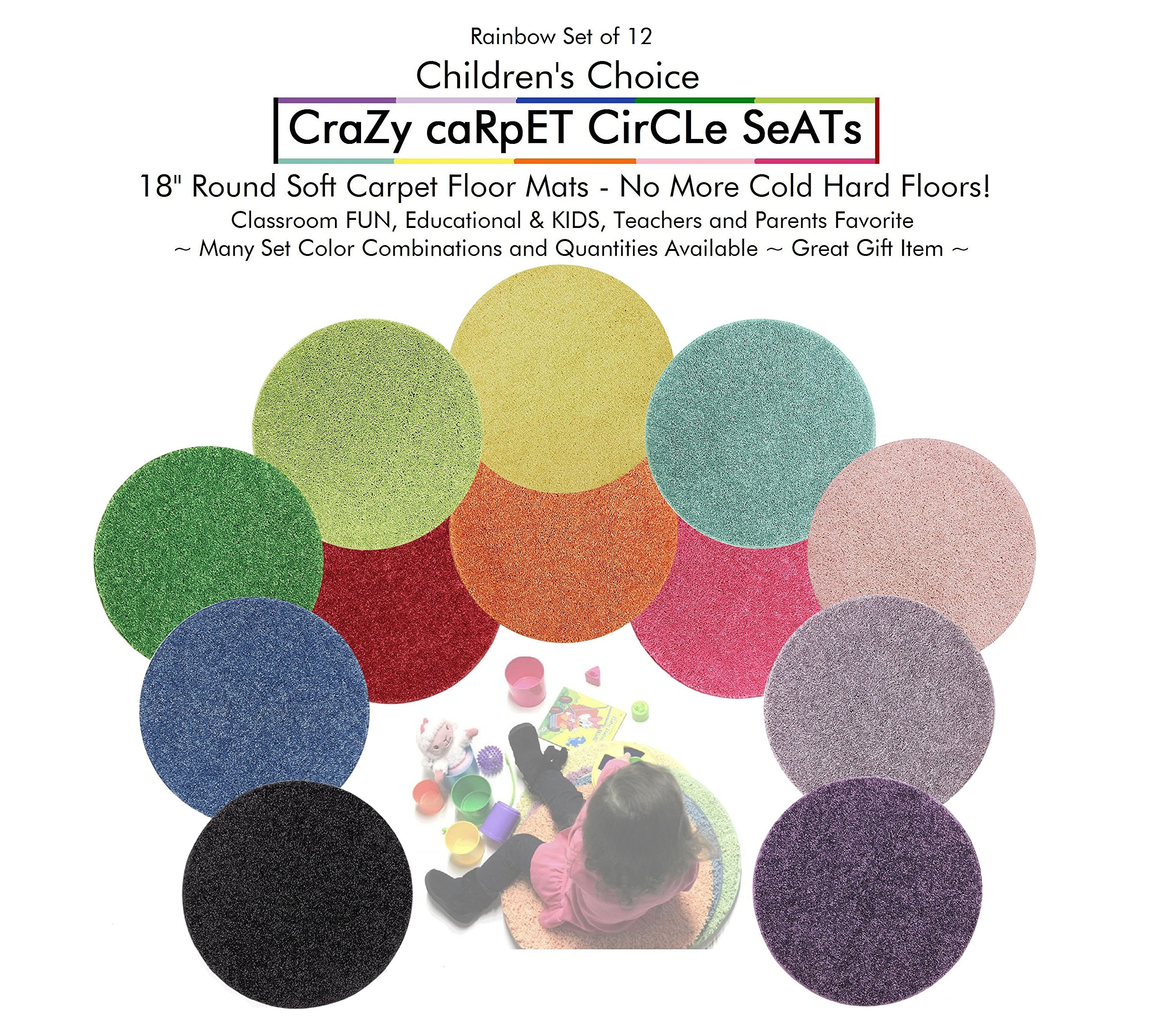Amazon Com Bright Multi Set 6 Children S Crazy Carpet