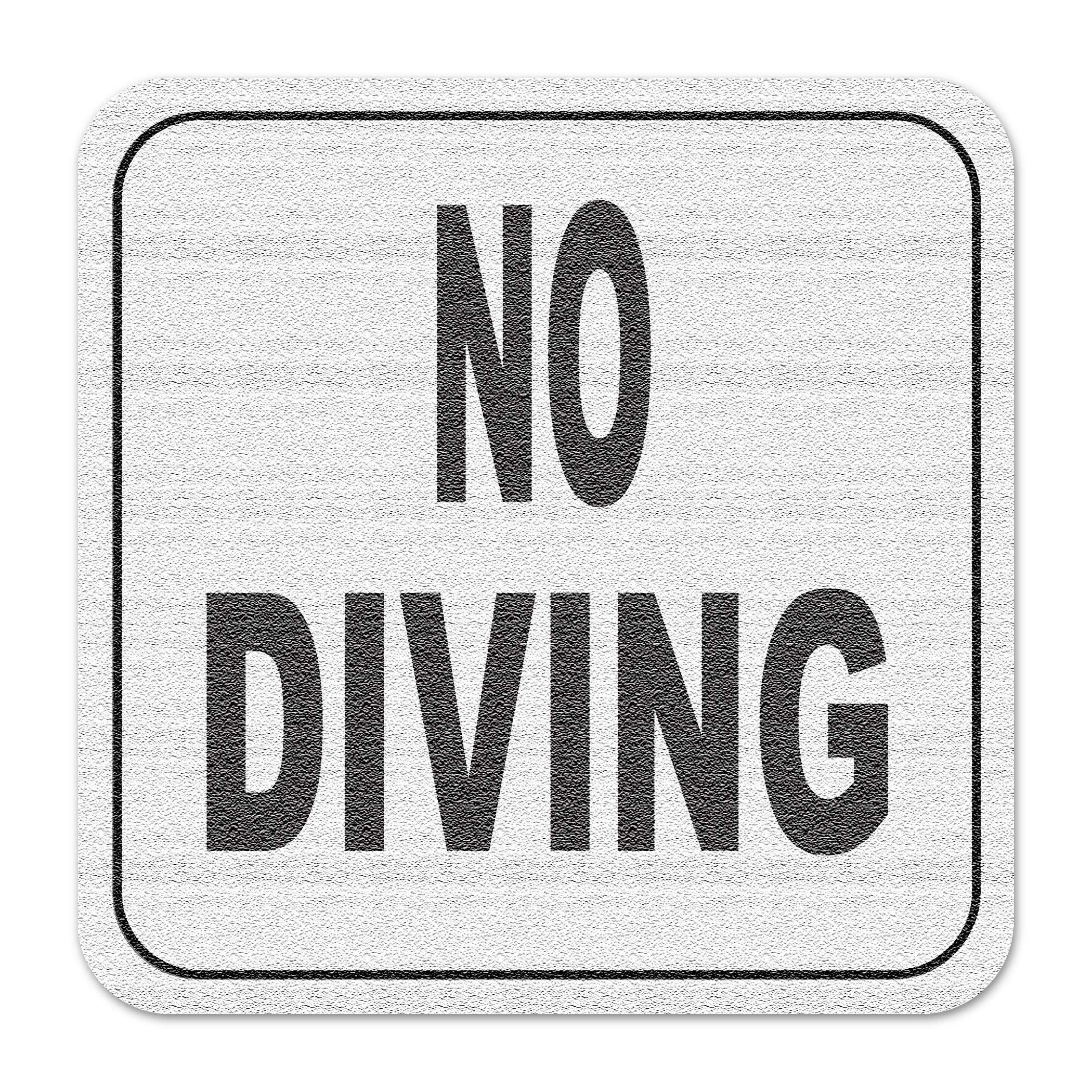 Aquatic Custom Tile Vinyl 3M Adhesive Swimming Pool Deck Depth Marker No Diving Text only, Non-Slip by Aquatic Custom Tile