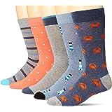 Amazon Essentials Men's 5-Pack Patterned Dress Socks