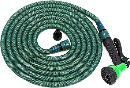 Cortile JIASHA Tubo Flessibile da Giardino,30M 100F Tubo da Giardino Flessibil,Tubo Irrigazione Flessibile,Tubo Estensibile da Giardino 15 per autolavaggio irrigazione da Giardino