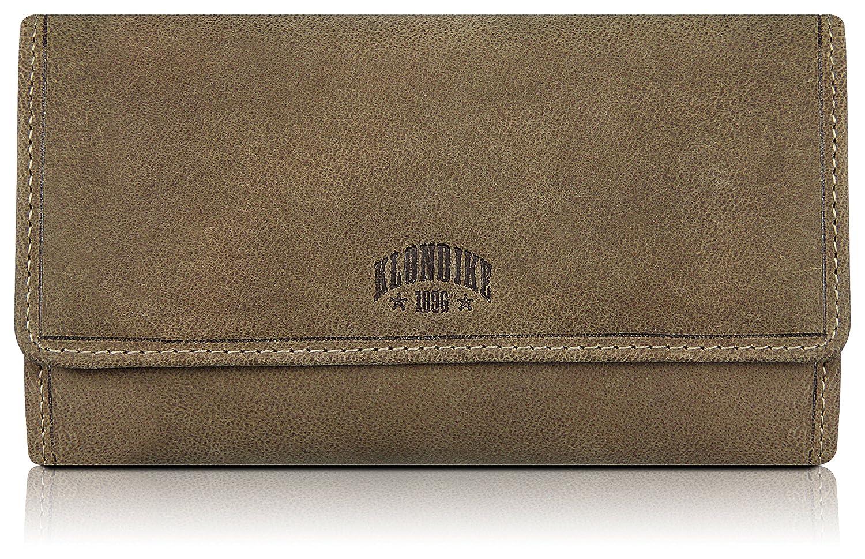 Klondike 1896 Monedero de Piel auténtica para Mujeres Donna, Cartera de Piel, Stone - Limited Edition