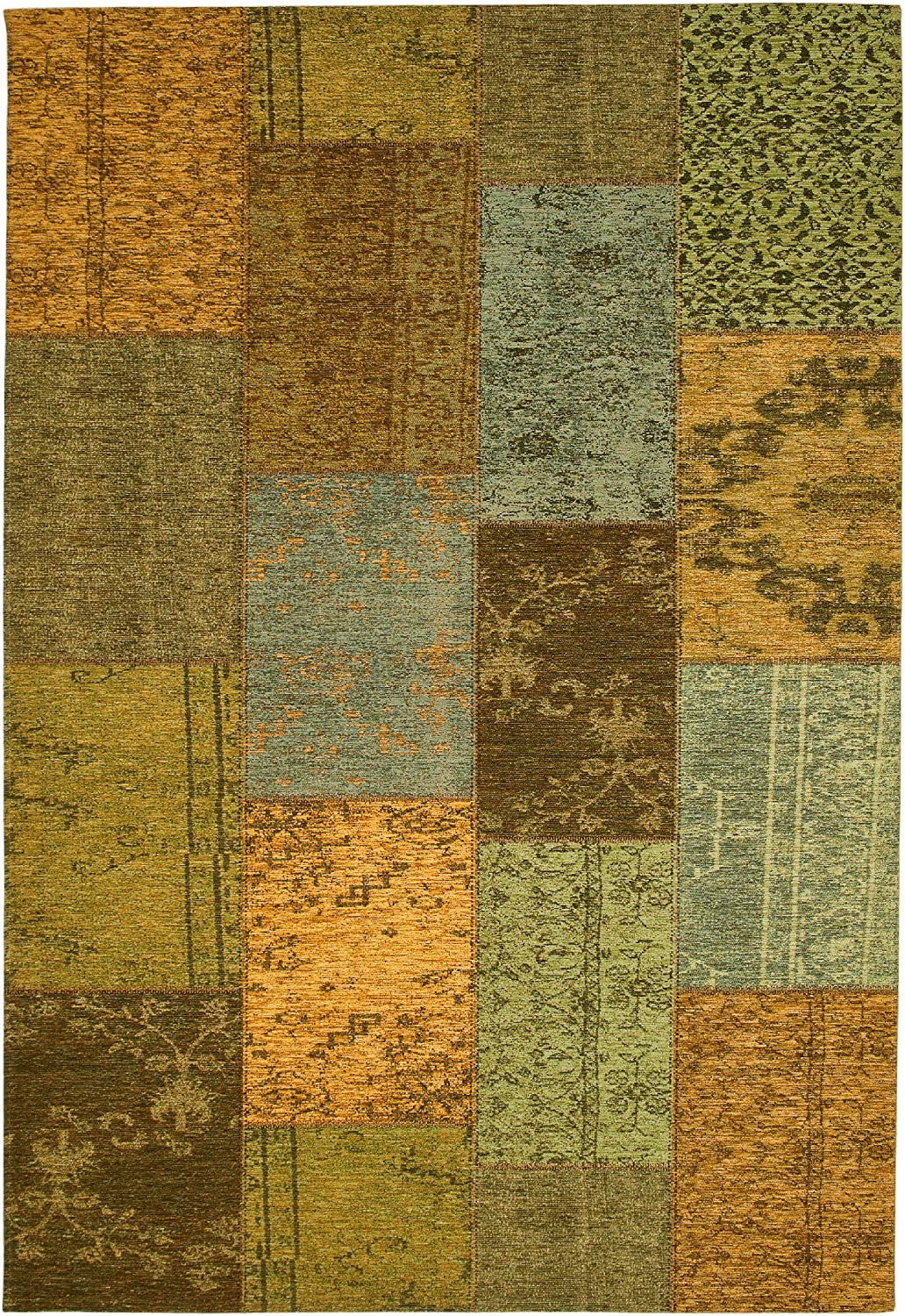 "Sona-Lux Contemporary rug apple green ""4 sizes availlable"" 6ft5""x9ft8"""