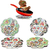 Bascuda Ceramic Coasters Large Placemats Set of 2 - Trivets for Hot Dishes - 18cm Moroccan Coasters Heat Resistant…