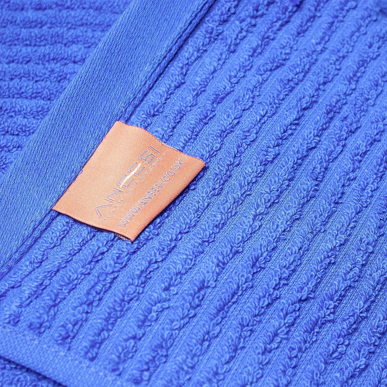 Blu Mare Aneesi 76x150 cm Shalloya Asciugamano da Bagno Grande in Cotone Vellutato