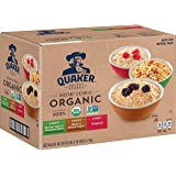 Quaker Organic Instant Oatmeal, Variety Pack, 32 Count