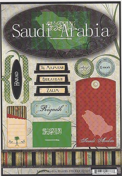 Amazon Saudi Arabia World Travel Cardstock Scrapbook Stickers