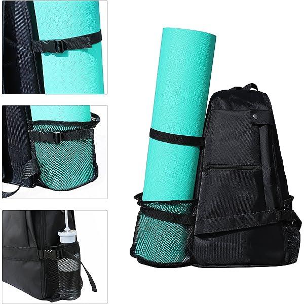 Beach Yoga Mat Backpack Multi Purpose Crossbody Sling for Gym Hiking or Travel