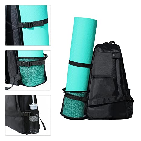 2980a2693a Yoga Mat Bag Backpack Crossbody Sling Backpack Yoga Mat Carrier Bag Suit  for Women Men Workout