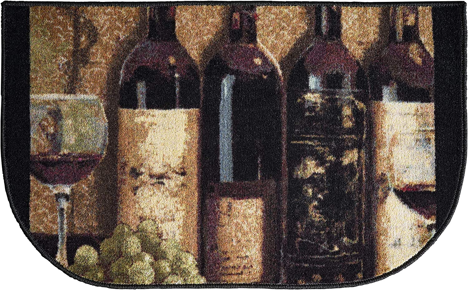"""Brumlow MILLS Wine Boutique Area Rug for Kitchen, Living or Dining Room, 19"""" x 32"""", Tan"""