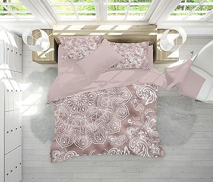 Amazoncom Rose Gold Mandala Bedding Rose Gold And White Mandala